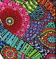 coloured zentangle